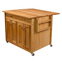 Deep Island Drop Leaf Kitchen Cart