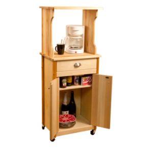 Enclosed Storage Microwave Cart