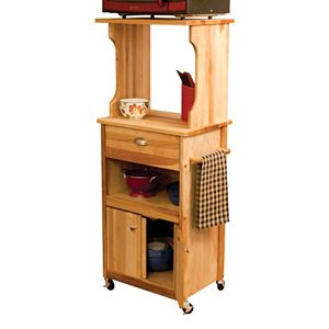 Open Storage Microwave Cart