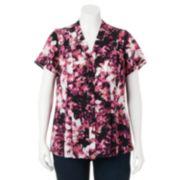 Plus Size Croft & Barrow® Floral Pleated Blouse