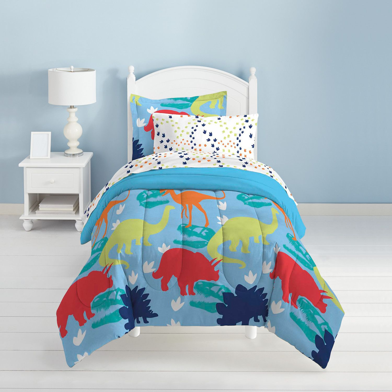 Captivating Dream Factory Dinosaur 4 Pc. Bed Set   Toddler