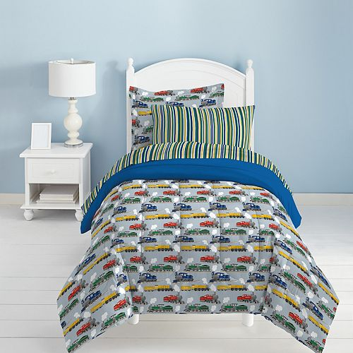 Dream Factory Trains 4-piece Toddler Bed Set