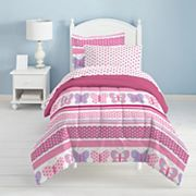 Dream Factory Butterfly Dots 4 pc Bed Set - Toddler