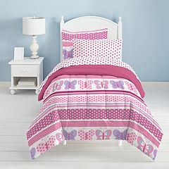 Dream Factory Butterfly Dots 4-pc. Bed Set - Toddler