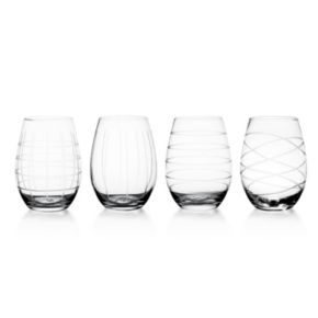 Fifth Avenue Crystal 4-pc. Stemless Wine Glass Set
