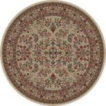 Merinos Sarouk Floral Framed Rug - 5'3'' Round