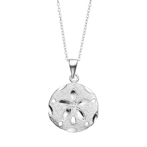 Collection sterling silver sand dollar pendant necklace journee collection sterling silver sand dollar pendant necklace aloadofball Images