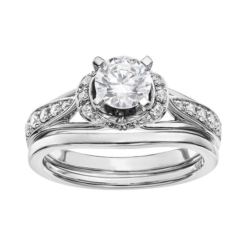Diamond Engagement Ring Set in 14k White Gold (1 Carat T.W.)