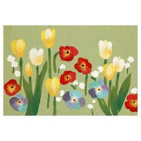 Trans Ocean Imports Liora Manne Visions III Le Jardin Floral Doormat - 20'' x 29 1/2''