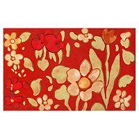 Trans Ocean Imports Liora Manne Visions IV Watercolor Flower Doormat - 20'' x 29 1/2''
