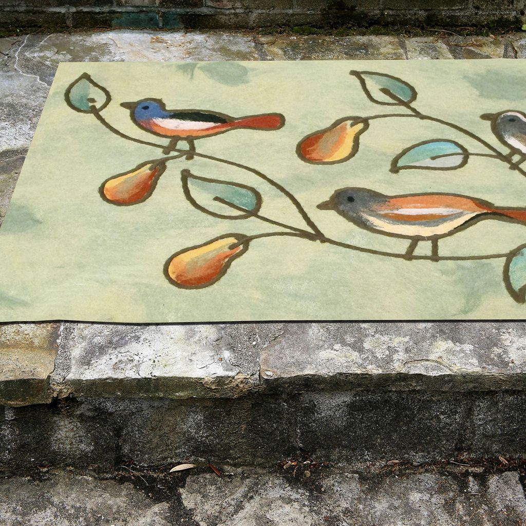 Liora Manne Visions IV Song Birds Doormat - 20'' x 29 1/2''