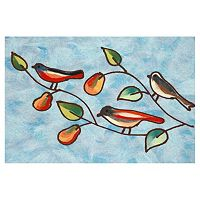 Trans Ocean Imports Liora Manne Visions IV Song Birds Doormat - 20'' x 29 1/2''