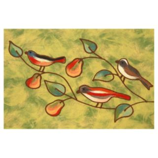 Trans Ocean Imports Liora Manne Visions IV Song Birds Doormat - 20'' x 29 1/2''