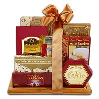 Burgundy & Gold Cutting Board Gift Set
