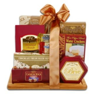 Burgundy and Gold Cutting Board Gift Set