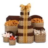 Golden Decadence Holiday Gift Tower Set