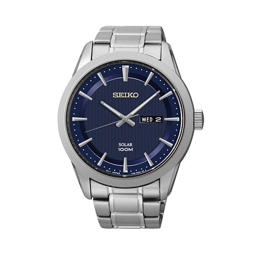 Seiko Men's Stainless Steel Solar Watch - SNE361