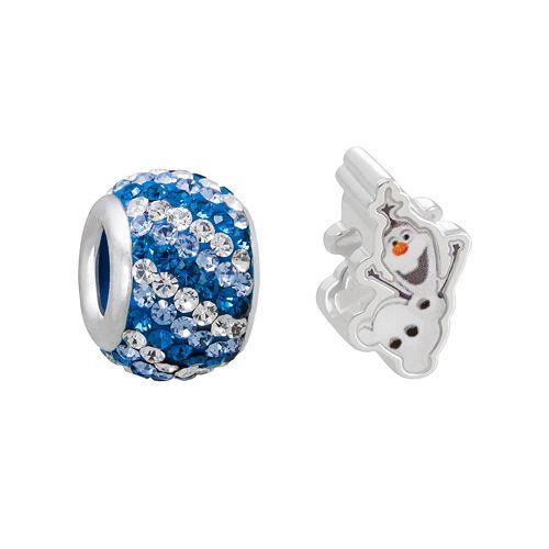 Disney's Frozen Crystal Sterling Silver Olaf Bead Set