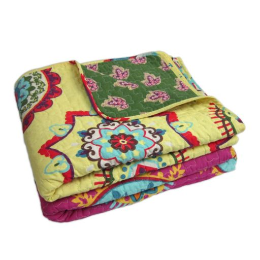Adrianne Quilted Reversible Throw