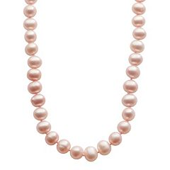 PearLustre by Imperial Dyed Freshwater Cultured Pearl Sterling Silver Necklace