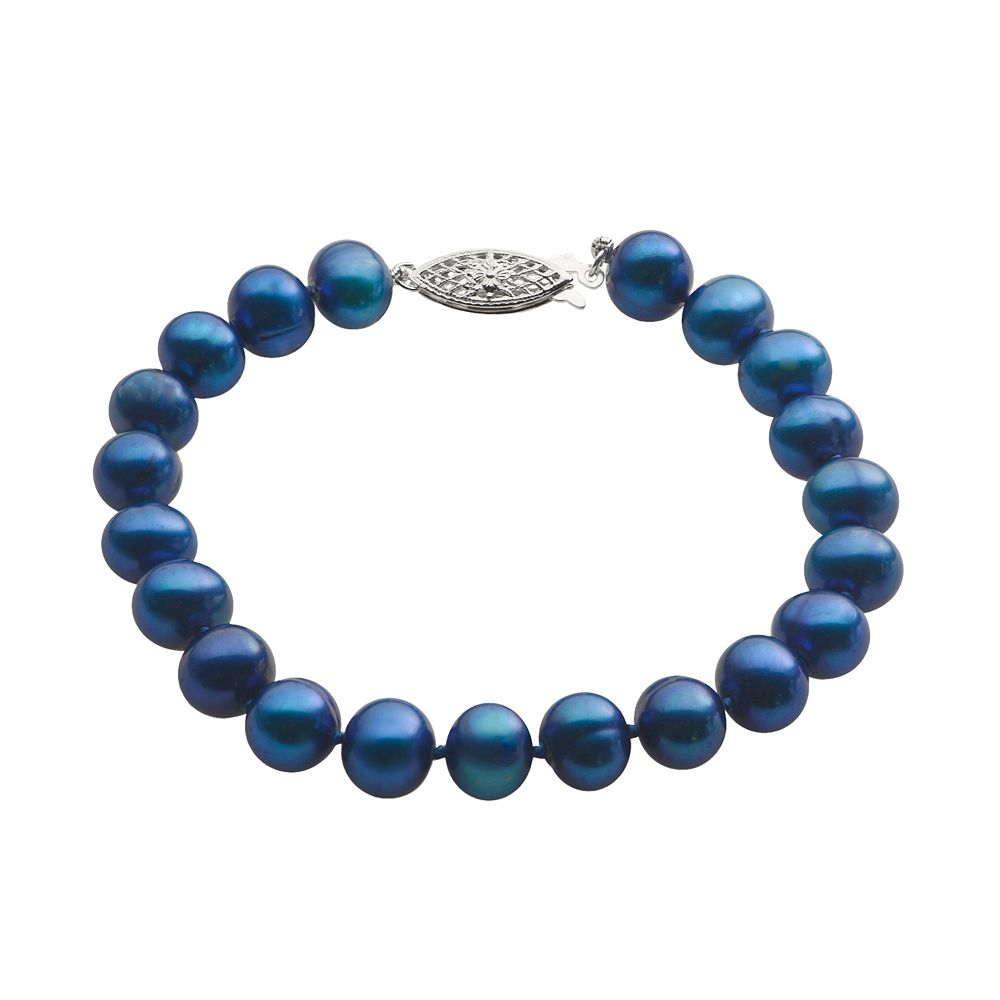 PearLustre by Imperial Dyed Freshwater Cultured Pearl Sterling Silver Bracelet