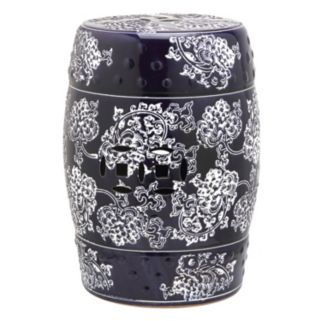 Safavieh Midnight Flower Ceramic Garden Stool