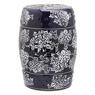 Safavieh Midnight Flower Ceramic Garden Stool