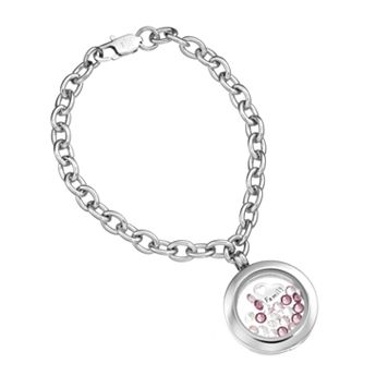 Blue La Rue Crystal Stainless Steel 1-in. Round