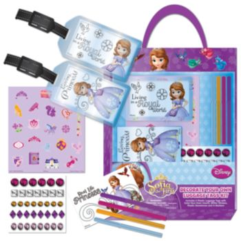 Disney Sofia the First Decorate Your Own Luggage Tag Set