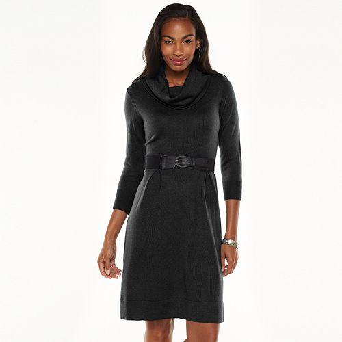 7d8f194b8d4 AB Studio Cowlneck Sweater Dress - Women s