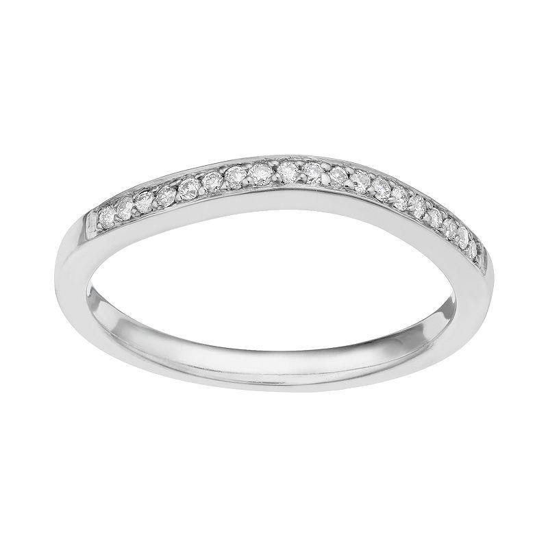 1/10 Carat T.W. 14k White Gold Diamond Wedding Ring
