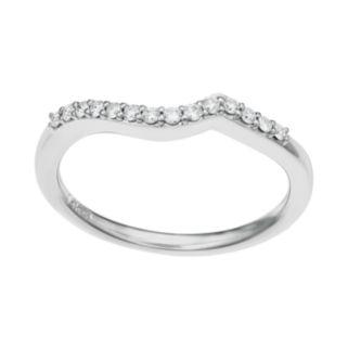 14k White Gold 1/8 Carat T.W. Diamond Wedding Ring