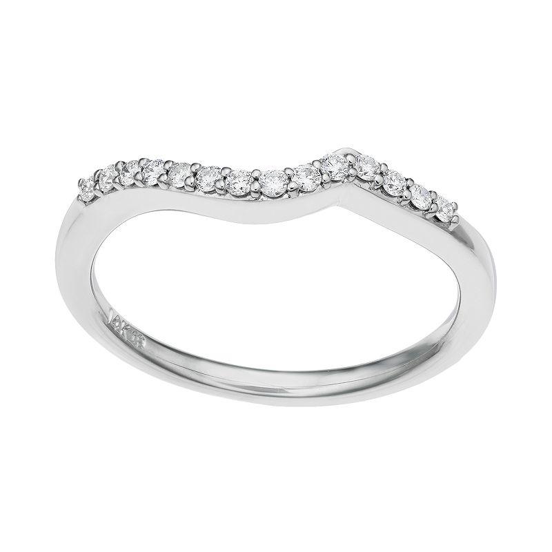 1/8 Carat T.W. Diamond 14k White Gold Wedding Ring