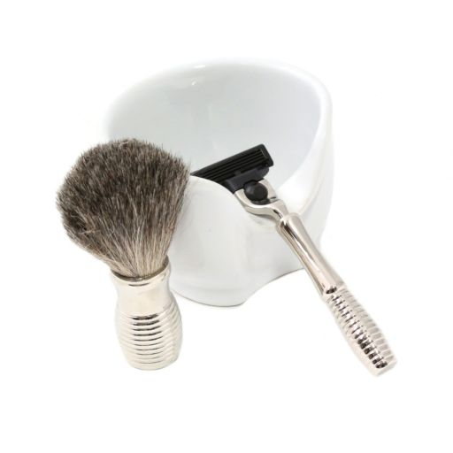 Bey-Berk 3-Piece Shave Set