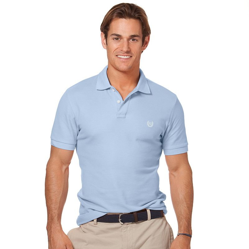 Chaps Fitted Solid Pique Polo - Men