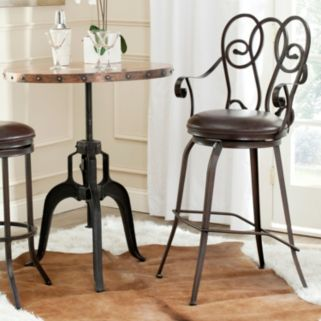 Safavieh Montrogue Swivel Bar Stool