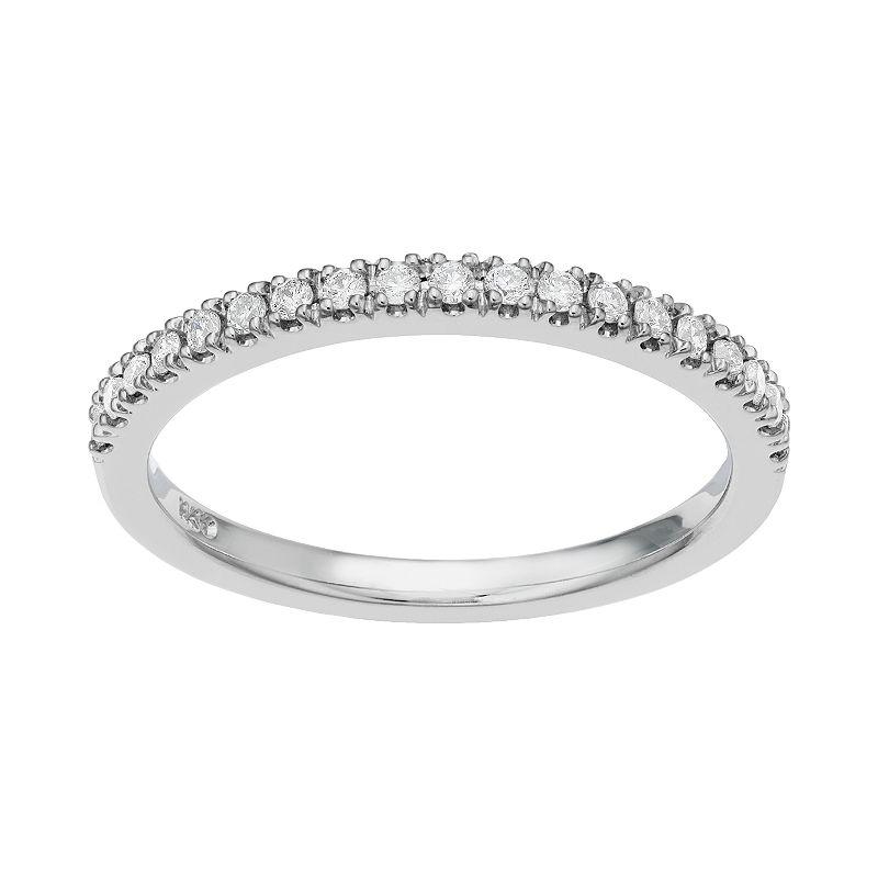 1/5 Carat T.W. Diamond 14 White Gold Wedding Ring