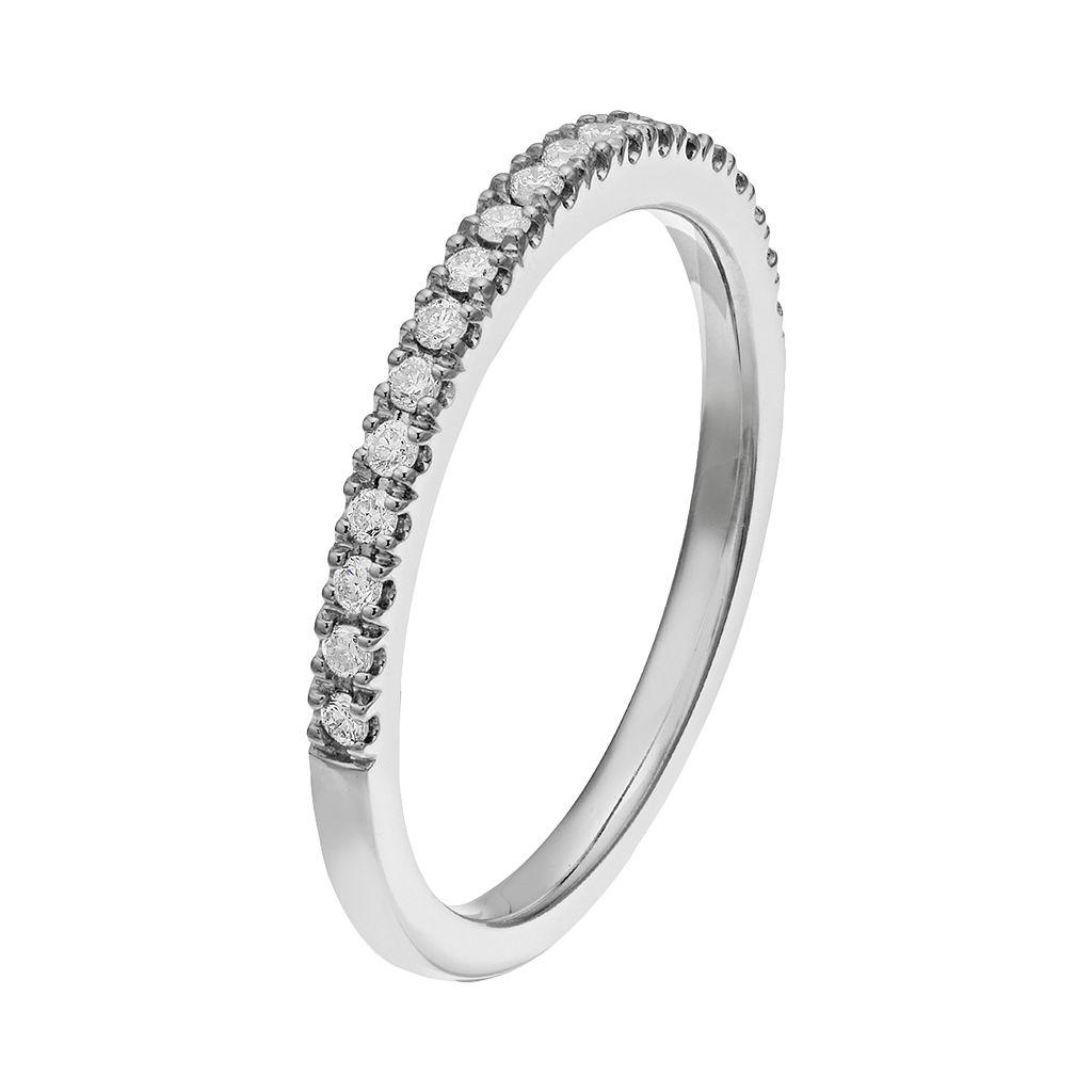 14 White Gold 1/5 Carat T.W. Diamond Wedding Ring