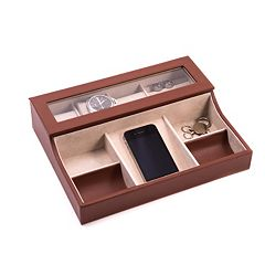 Bey-Berk Leather Valet Box - Men
