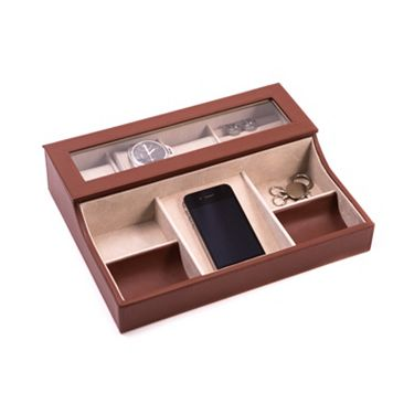 Bey-Berk Leather Valet Box - Men