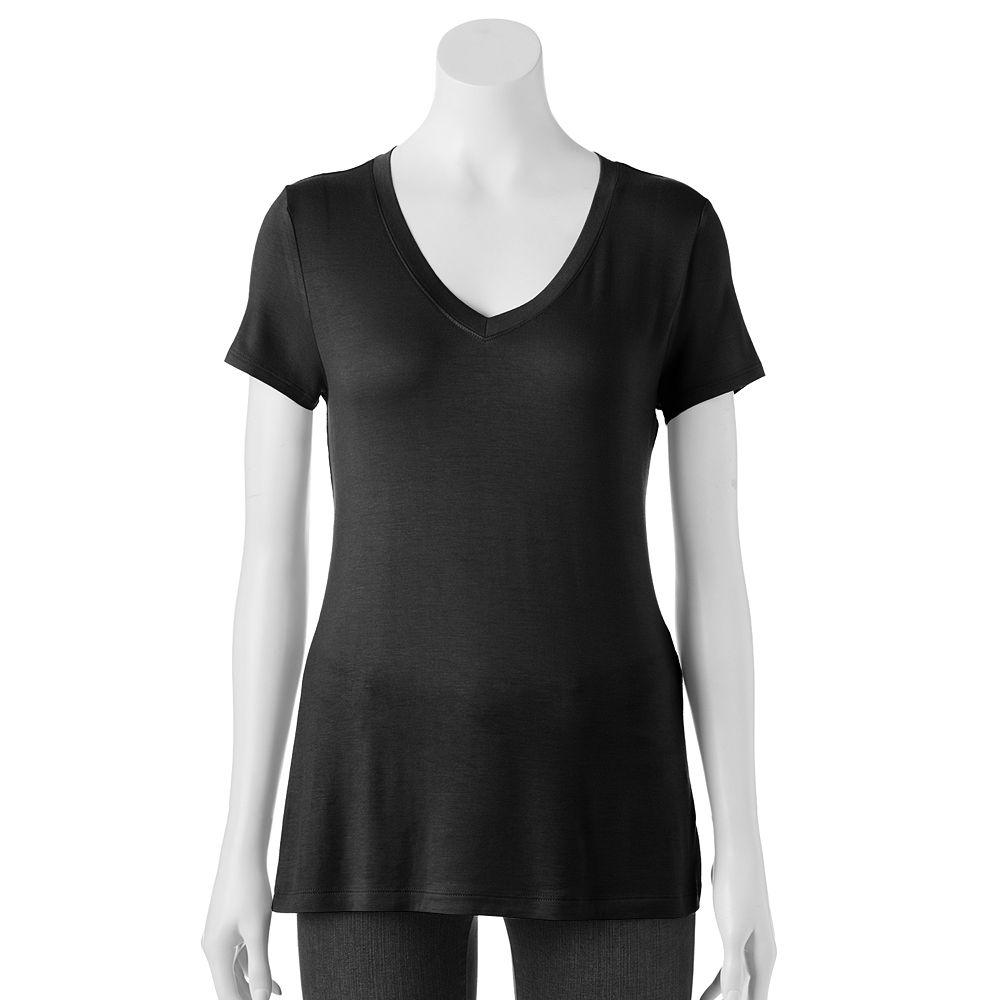 Black t shirts kohls - Women S Apt 9 Essential Tee