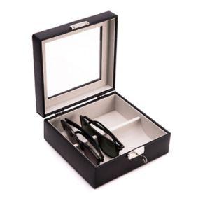 Bey-Berk Leather Multi-Eyeglass Storage Case - Men