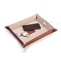 Bey-Berk Leather Valet & Charging Station