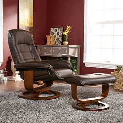 Southern Enterprises Powell 2 pc Recliner & Ottoman Set