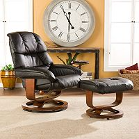 Southern Enterprises Burlington Recliner & Ottoman