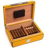 Bey-Berk Carbon Fiber 25-Cigar Humidor - Men