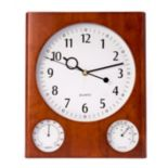 Bey-Berk Cherry Wall-Mount Clock