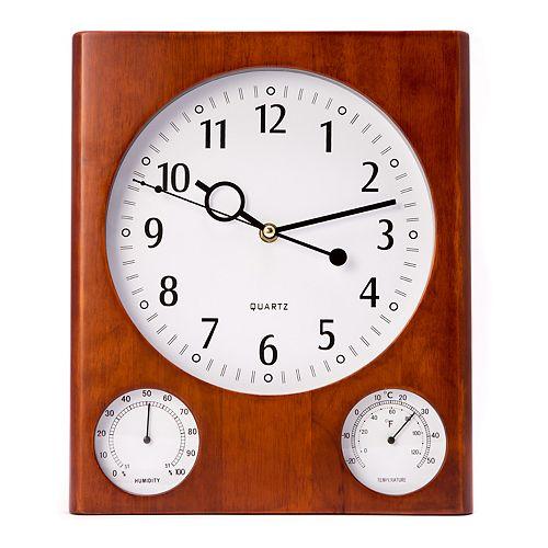 Bey-Berk Cherry Wall-Mount Clock