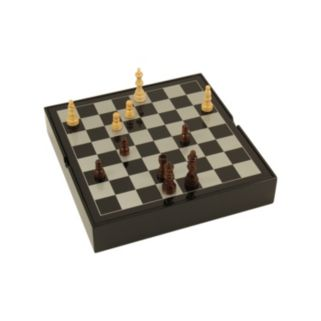 Bey-Berk Lacquered Wood Multi Game Set