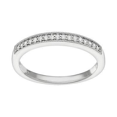 14k White Gold 1/10 Carat T.W. Diamond Wedding Ring